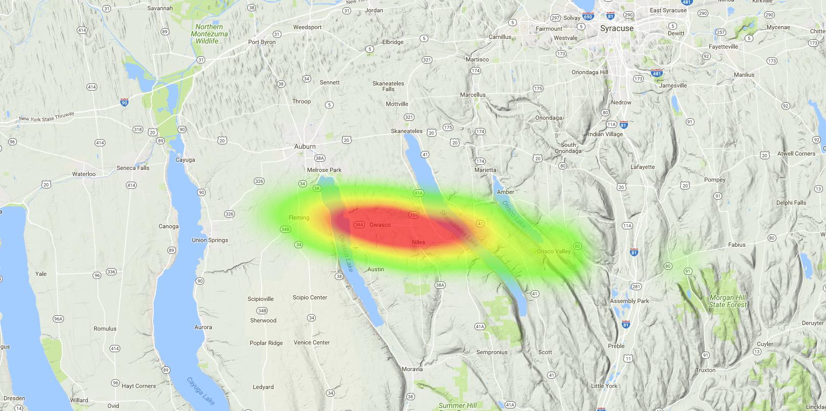 OLHZN-9 Weather Balloon Flight Prediction #8 Heat Map