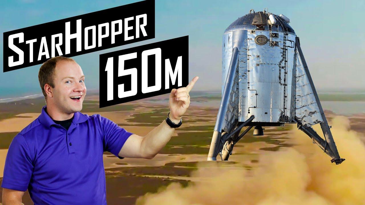 SpaceX Starhopper 150m Test Flight Hop